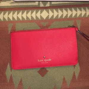 Kate Spade bright red wristlet
